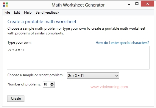Microsoft Math Worksheet Generator maths worksheet creator – Maths Worksheet Maker